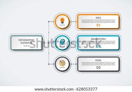 Infographic table 3 options modern minimalistic stock vector infographic table with 3 options modern minimalistic vector banner that can be used as chart ccuart Choice Image