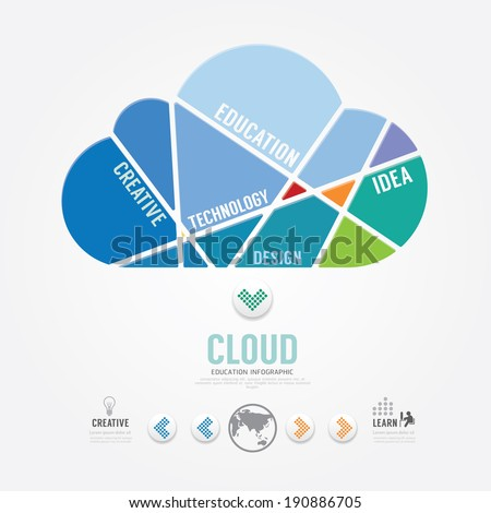 infographic Template cloud color banner . concept vector illustration - stock vector