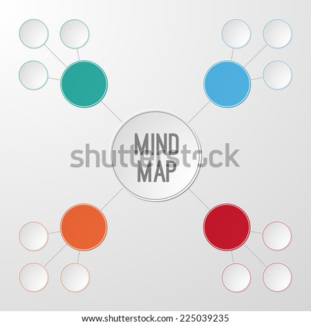 Infographic template of mind map for your text. Vector illustration - stock vector