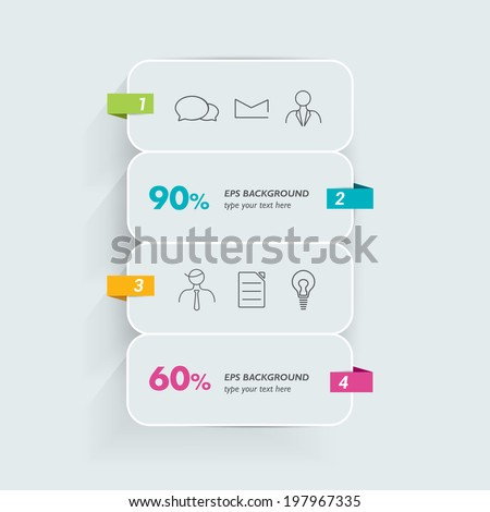 Infographic template. Squate speech bubbles. Vector. - stock vector