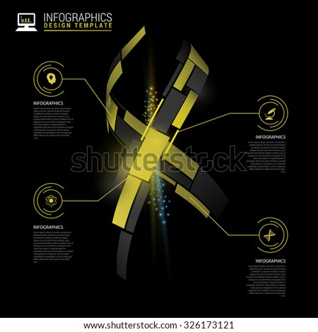 Infographic template with DNA abstract structure. Modern design template. Vector illustration - stock vector