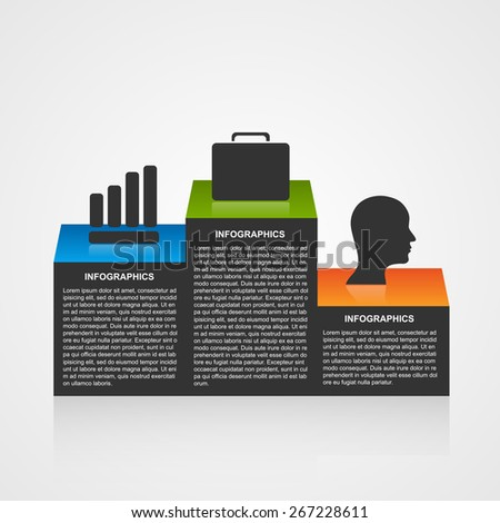 Infographic template with olympic podium. - stock vector