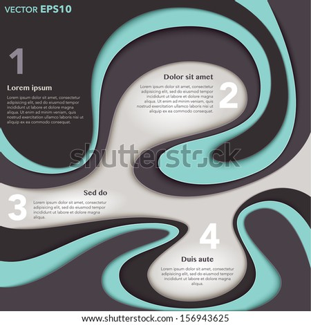 Infographic template with waves and flow for your business ideas