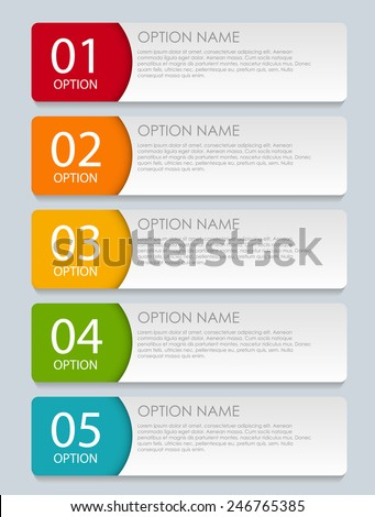 Infographic Templates for Business Vector Illustration. EPS10 - stock vector
