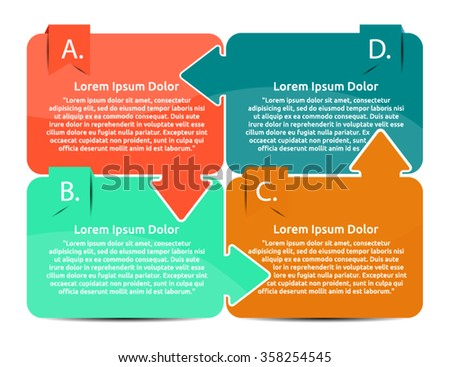 Infographic Templates for Business Vector Illustration. Four options infographic banner. - stock vector