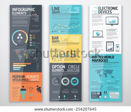 Infographic templates in well arranged order ready for use - stock vector