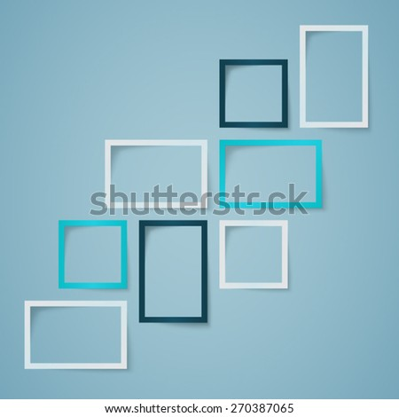 Infographic Text Box Layout With Shadows  - stock vector