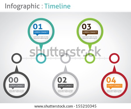 Infographic timeline - stock vector
