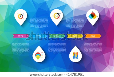 Infographic Timeline Design Concept Template Points Stock Vector ...