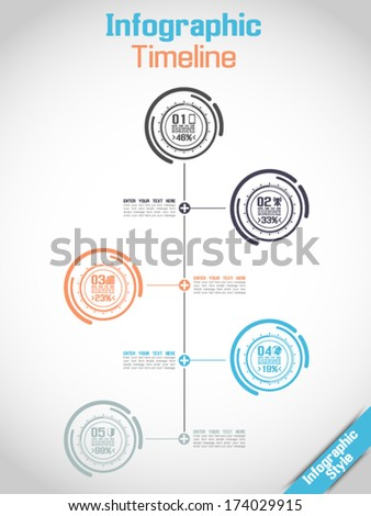 INFOGRAPHIC TIMELINE MODERN CONCEPT TECNOLOGY - stock vector