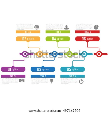 Infographic Timeline Template Can Be Used Stock Vector
