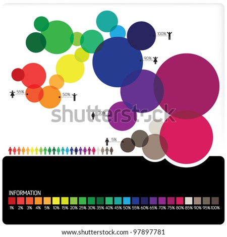 Infographic vector - stock vector