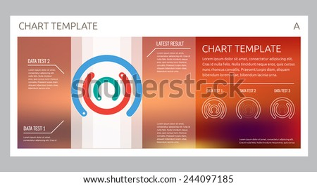 Infographic Vector design interface template design. Transparent user interface Minimalistic widget card interface - stock vector
