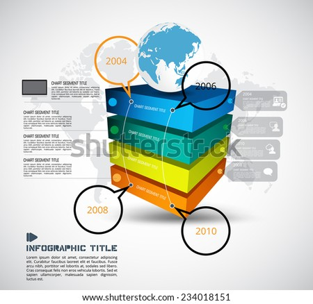 Infographic. Vector design template.  - stock vector