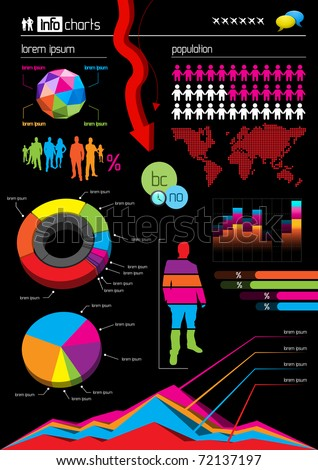 Infographic Vector Graphs and Elements. Vector Illustration.