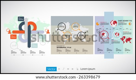 Infographic vector illustration. World Map and Information Graphics - stock vector