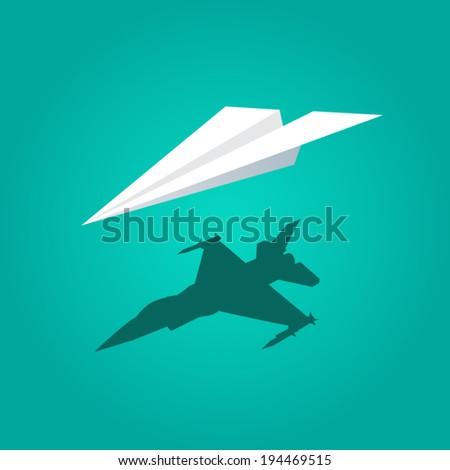 infographic vector paper plane flat design eps 10 vector - stock vector