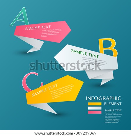 Infographic with cloor label on the blue background. Eps 10 vector file - stock vector