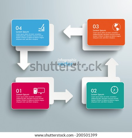 Infographic with colored rectangles on the grey background.  Eps 10 vector file. - stock vector