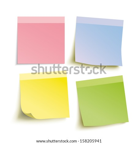 Infographic with colored stickers on the grey background. Eps 10 vector file. - stock vector