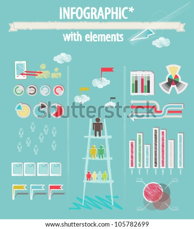 Infographic with elements - stock vector