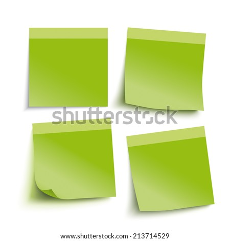 Infographic with green stickers on the grey background. Eps 10 vector file. - stock vector