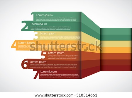 Infographic with numbers - stock vector