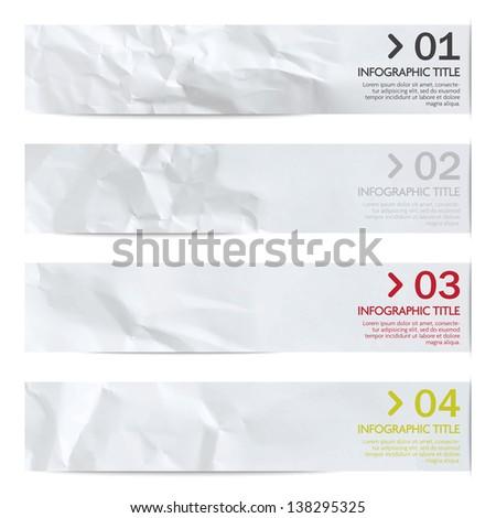 Infographics banners set - stock vector
