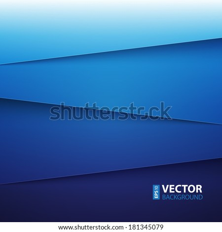infographics blue paper layers abstract vector background. RGB EPS 10 vector illustration - stock vector