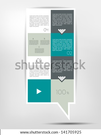 Infographics box diagram - stock vector