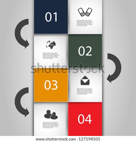 Infographics Cover - Numbered Banner Designs with Icons