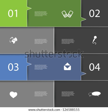 Infographics Cover - Speech Bubble Design with Icons - stock vector