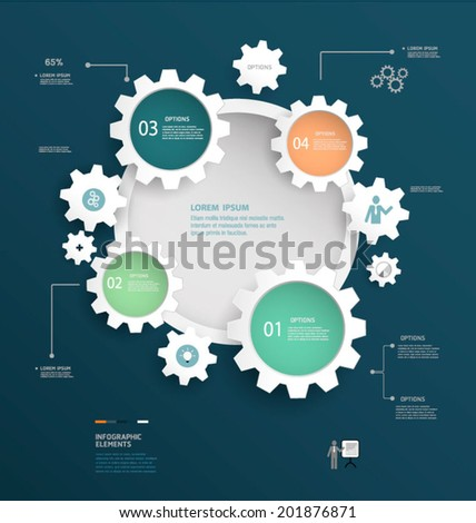 Infographics design. Vector can be used for workflow layout, diagram, number options, web design. - stock vector