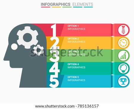 INFOGRAPHICS Element Abstract Modern Design Numbers Stock Vector ...