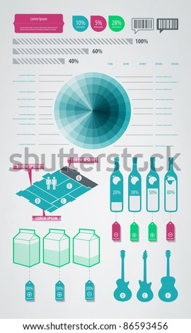 infographics element icons and symbols - stock vector