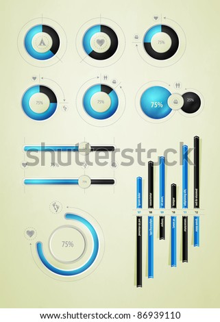 infographics element on water and liquid - stock vector