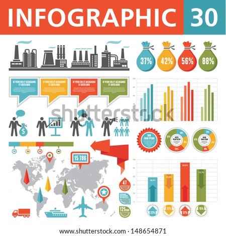 Infographics Elements 30 - stock vector