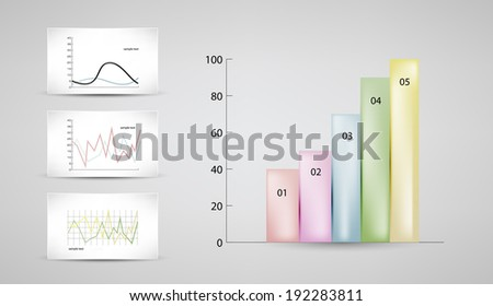 Infographics elements. Charts and graphs templates vector illustration. Eps 10. - stock vector