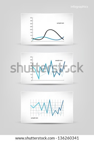 Infographics elements. Diagrams templates vector illustration. Eps 10. - stock vector