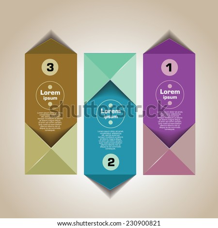 Infographics elements. Origami style. Open envelope - stock vector