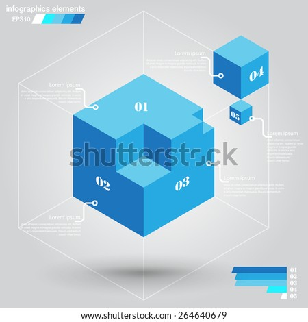 Infographics elements, template - stock vector