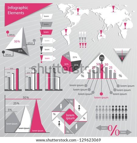 Infographics elements. Website or graphic design. - stock vector