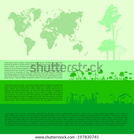infographics Green modern city living concept