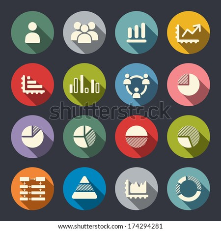 Infographics icons - stock vector