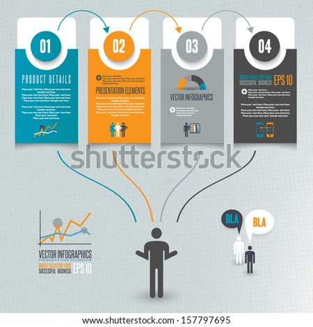 Infographics illustration - stock vector
