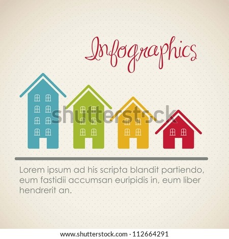 infographics illustration of numbers, vector illustration brown - stock vector