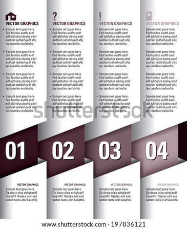 Infographics Numbered Banners. Vector Modern Illustration. - stock vector