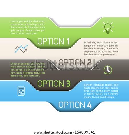 Infographics option design template. Vector. - stock vector