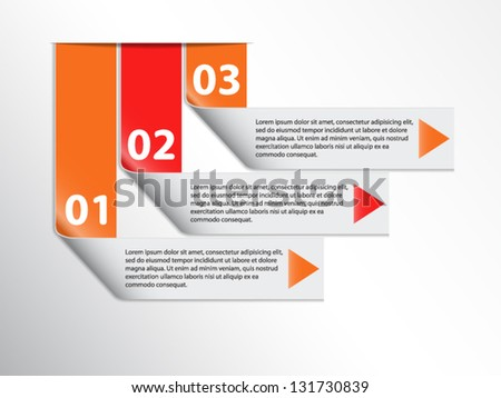 Infographics options banner.File is in eps10 format. - stock vector