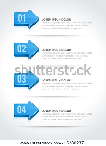 Infographics options design elements. Vector illustration. Lines and banner numbers and icons website eps 10.  - stock vector